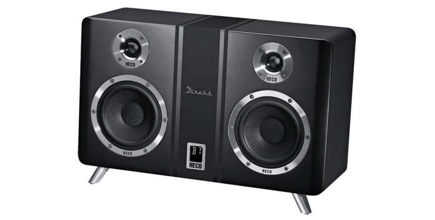 Heco Direkt 800 BT Black, Bluetooth aktyvi stereo garso kolonėlė su DAC