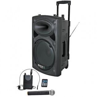Ibiza PORT15UHF-BT, aktyvi garso kolonėlė su audio media grotuvu ir akumuliatorium