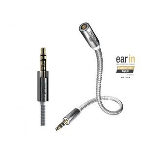 Inakustik Premium II Extension Jack, 3m ausinių laido prailginimo kabelis
