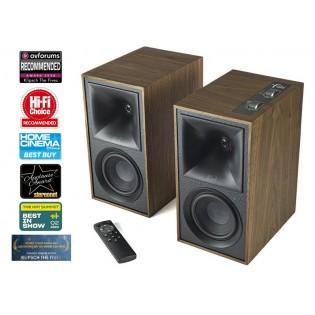 Klipsch The Fives Walnut, Bluetooth aktyvios garso kolonėlės su DAC ir Phono MM