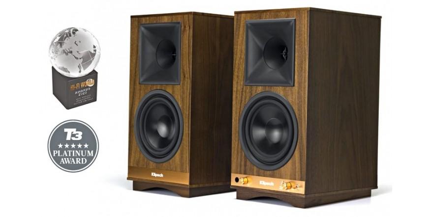 Klipsch The Sixes Walnut, Bluetooth aktyvios garso kolonėlės su DAC ir Phono MM
