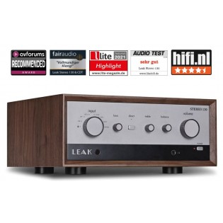 Leak Stereo 130 Wood, stereo stiprintuvas su DAC