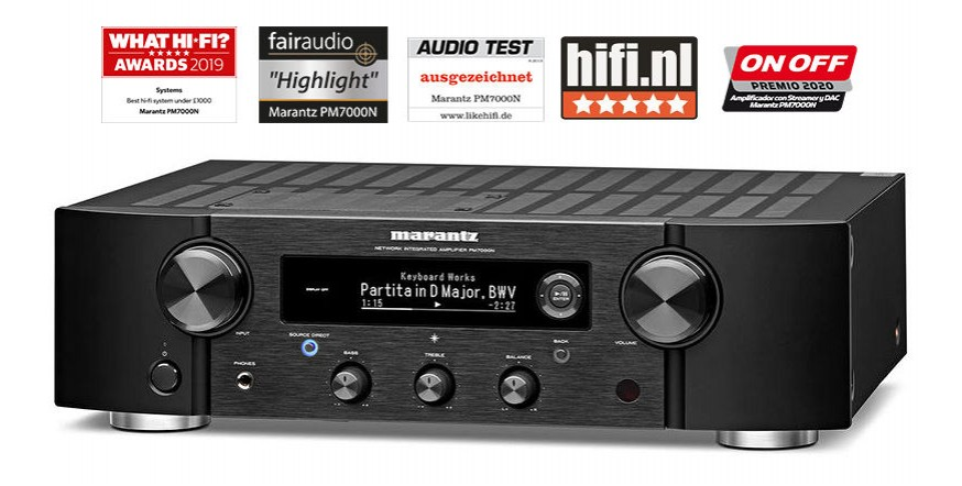 Marantz PM7000N Black, stereo stiprintuvas su įmontuotu media grotuvu