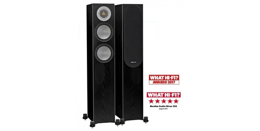 Monitor Audio Silver 200 Black Oak, garso kolonėlės