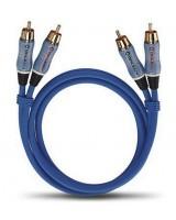 Oehlbach BEAT! Stereo blue, 1.0m, stereo RCA linijinis kabelis