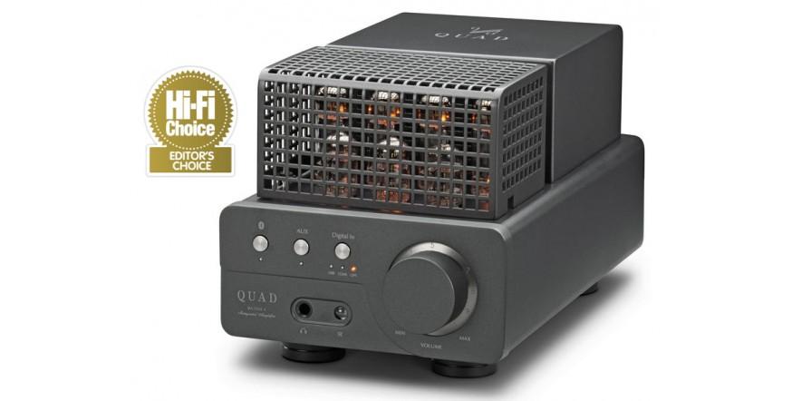 Quad VA-One+, lempinis stereo stiprintuvas su DAC ir Bluetooth