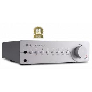 Quad Vena II Play Silver, stereo stiprintuvas su įmontuotu media grotuvu