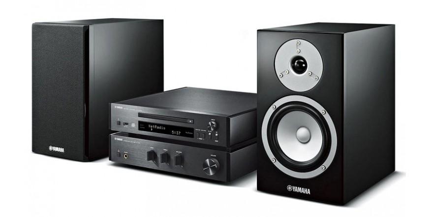 Yamaha MCR-N670 Black, tinklinis CD resyveris su kolonėlėm